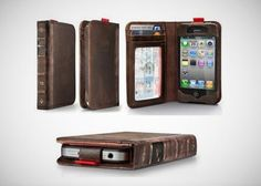 $10 for a Leather Book-Inspired iPhone Wallet ($60 Value) via Tippr deals