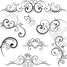 Fotosearch – Search Clip Art, Illustration Murals, Drawings and Vector EPS Graphics Images Clipart – Vector scroll ornament. Fotosearch – Search Clip Art, Illustration Murals, Drawings and Vector EPS Graphics Images Muster Tattoos, Scroll Design, Swirl Design, Shape Design, Art Design, Vector Design, Design Elements, Flower Tattoos, Swirls