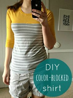 very extra ordinary: Color-blocked Shirt Refashion