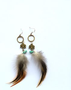 Thunderbird Feather Earrings by BrianneCossette on Etsy