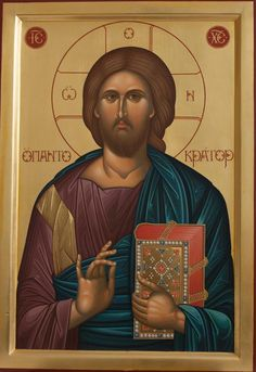 Greek Orthodox Icons : Jesus Christ the Light Giver - Hellenic Art Paint And Varnishes, Paint Icon, Artist Signatures, Orthodox Icons, New Testament, Jesus Christ, Christianity, Greek, Hand Painted