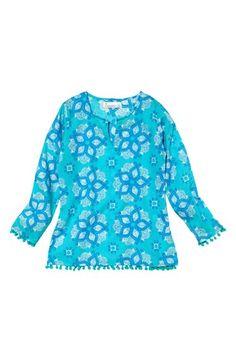 Girl's Masalababy 'Pom Pom' Cotton Tunic