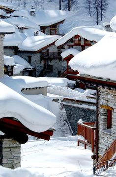 Val d'Isere in France/ snowzine.com. A trendy resort in the huge Espace Killy ski area.