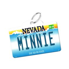 License Plate Pet Tag - Nevada