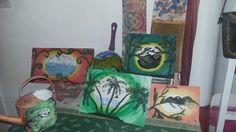 Obras pintadas a pincel Sueño con colores y en cada obra queda plasmada mi ser