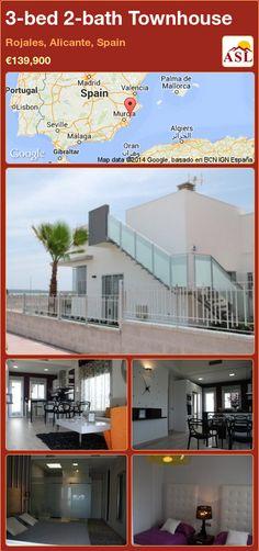3-bed 2-bath Townhouse in Rojales, Alicante, Spain ►€139,900 #PropertyForSaleInSpain
