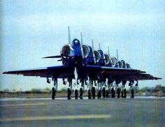 Blue Angels fly the A-4 Skyhawk