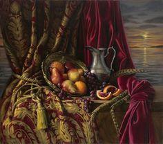 Still Life Oil Paintings By Jeanne Leemon - Fine Art Blogger Still Life Fruit, Still Life Oil Painting, Fruit Painting, Blood Orange, Be Still, Amazing Art, Surrealism, Oil Paintings, Decoupage