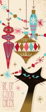 Enchanted Conversation: A Fairy Tale Magazine: Vintage Holiday Illustrations Noel Christmas, Retro Christmas, Christmas Greetings, All Things Christmas, Christmas Crafts, Illustration Noel, Christmas Illustration, Vintage Christmas Images, Vintage Holiday
