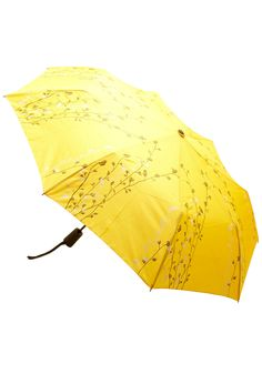 Prepared for Precipitation Umbrella in Yellow | Mod Retro Vintage Umbrellas | ModCloth.com
