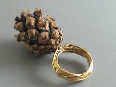 Sibel Akay - ring, 925Ag, found tree part