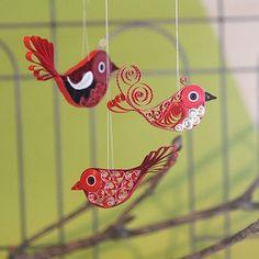 Quilling Vögel