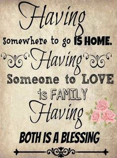 Home and Family Saying