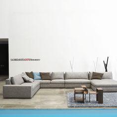 Canap d angle lounge now hulsta studios salons et salons - Canape cuir cinna ...
