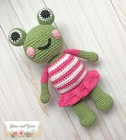 Mia the Frog - A Free Crochet Pattern | Grace and Yarn