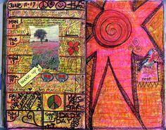 weekly moleskine calendar, by Judy Watt . My doesn't look like this but maybe it should. Calendar Journal, Art Calendar, Journal Pages, Art Journal Inspiration, Journal Ideas, Awesome Art, Cool Art, Moleskine, Art Journals