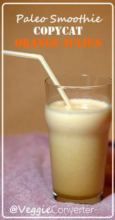 Copycat Orange Julius Smoothie | @VeggieConverter allergyfree paleo