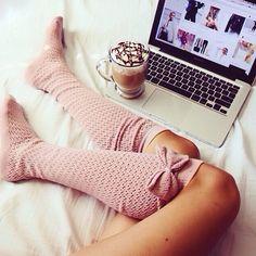 Long socks / coffee / lazy days / fall