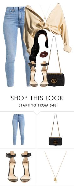 """Naked."" by wavychelsx ❤ liked on Polyvore featuring Gucci, Gianvito Rossi, Child Of Wild and Lime Crime"
