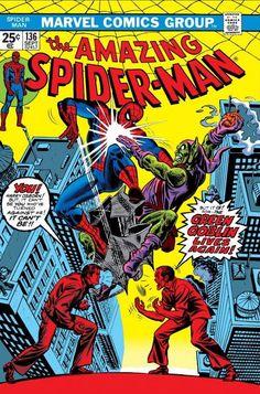 For sale marvel comics amazing spiderman 136 first harry osborn green goblin stan lee john romita artwork gil kane emorys memories. Marvel Comics, Hq Marvel, Marvel Comic Books, Comic Books Art, Comic Art, Marvel Characters, Harry Osborn, Amazing Spider Man Comic, Amazing Spiderman