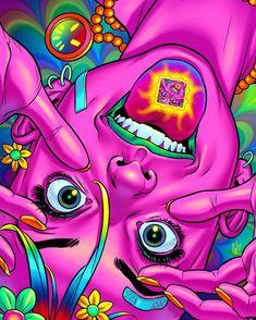wallpaper tanks u next tanks next wallpaper ; wallpaper tanks u next ariana ; wallpaper tanks u next ; tanks you next wallpaper Trippy Drawings, Psychedelic Drawings, Art Drawings, Drawing Art, Drawing Ideas, Hippie Painting, Trippy Painting, Arte Dope, Dope Art