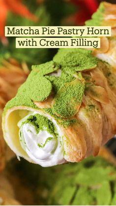 Fun Desserts, Delicious Desserts, Dessert Recipes, Yummy Food, Green Tea Recipes, Sweet Recipes, Fun Baking Recipes, Cooking Recipes, Diy Food