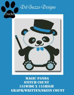 Magic Panda GRAPHGHAN by DelGuzzoDesignStudio on Etsy