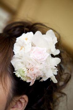 新郎新婦様からのメール 和装の花の指輪 つきじ治作様へ : 一会 ウエディングの花
