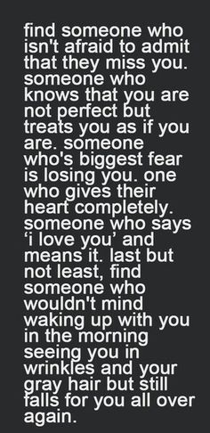 The ONLY things that mean the most in a realationship