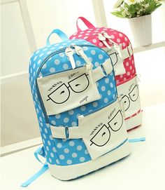 stacy bag hot sale women printing backpack youth girl candy color cartoon nylon travel backpack ladies bag student schoolbag $8.00