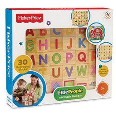 Fisher-Price® 30-Piece ABC Puzzle Block Set - Sears