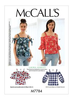 M7784 | Misses' Tops Sewing Pattern | McCall's Patterns