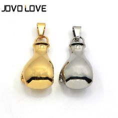 Fashion Jewelry Silver/Gold Plated Glove Pendant Stainless Steel Men Pendants Necklaces Wholesale