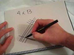 Como fazer multiplicação sem tabuada (maya method)