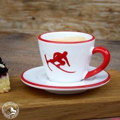 Gmundner Keramik   Espressotasse Toni Rot   Wohlgeraten - Wir lieben Berge!