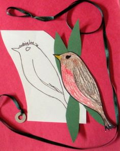 """SPRING ON A STRING"" AND EASY-ART CRAFTIVITY - TeachersPayTeachers.com A fun spring art activity that can be completed easily in the classroom, home school, or art room. It provides a fun project for quiet, independent seat work.  PATTERNS PROVIDED, IF NEEDED."