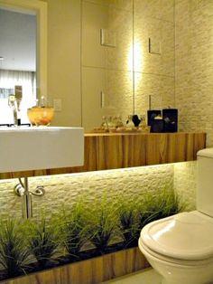 lavabo com espelho iluminado por tras - Pesquisa Google