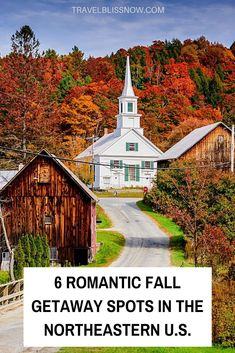 Six romantic fall getaway spots in the Northeastern Stay | Romantic places to stay in the Northeastern U.S. | Fall vacations in the Northeastern U.S. | Fall Glamping in the U.S. | Fall getaways in Vermont | Fall getaways in New York | Fall getaways in Massachusetts | Fall getaways in New Hampshire | Best places to visit in the U.S. in fall | Best fall foliage places in the U.S. | October vacations in the U.S.| Romantic fall trips in the U.S. #fallvacation #UnitedStates #Travelblissnow Romantic Destinations, Romantic Places, Romantic Vacations, Romantic Travel, Amazing Destinations, Travel Destinations, Central America, North America, Travel Guides