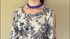 Elegant Handmade Crochet Choker Necklace Collar  by CreoCrochet