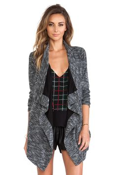 [drapey jacket out of suiting/tweedy material] -- Lovers + Friends Days Like These Jacket in Marled | REVOLVE