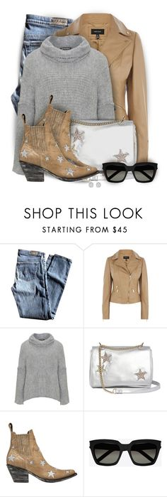 """""""Stars - Bag & Shoes II"""" by colierollers ❤ liked on Polyvore featuring AG Adriano Goldschmied, Amandine, Mexicana, Yves Saint Laurent and Effy Jewelry"""