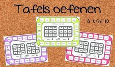 Juf Shanna: Tafels oefenen met tafelbingo! Numbers For Kids, Early Math, Bingo Games, Telling Time, Science For Kids, Love My Job, Creative Kids, Learning Activities, Classroom