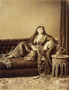 Turkish lady by Abdullah Freres (1880s)