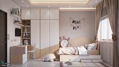 second suggestion for kid's bedroom design second suggestion for kid's bedroom design on Behance Interior Room Decoration, Room Interior, Interior Design Living Room, Kids Bedroom Designs, Kids Room Design, Design Bedroom, Girl Room, Girls Bedroom, Baby Room Decor