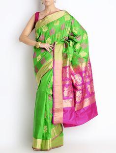 Gadwal handloom silk sari, available at Omnah. www.facebook.com/omnah. Pic courtesy: Jaypore
