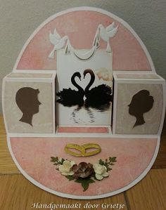 Grietje's kaartenhoekje: Bruiloft Aliexpress Dies Cards, Step Cards, Cool Cards, Wedding Anniversary, Wedding Cards, Box, Decorative Plates, Kids Rugs, Popup