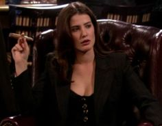 Robin Sherbatsky, my guy friends have nicknamed me Sherbatsky. They say we favor in looks and mannerism. Robin Scherbatsky, How I Met Your Mother, Suits Season 1, Robin Suit, Barney And Robin, Best Night Ever, Cigar Girl, Cobie Smulders, Guy Friends