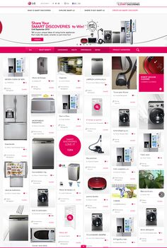 DCafeIn Website - LG Smart Discoveries