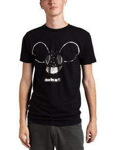 FEA Merchandising Men`s Deadmau5 Logo With Silver Foil Lightweight Tee