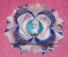 Disney Frozen Inspired Hair bow / Queen Elsa by NikkiPickleDesigns